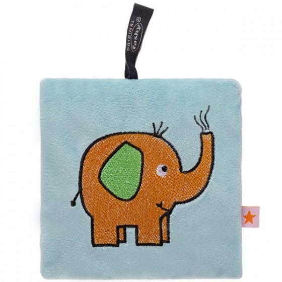 Pittenzak met koolzaad vulling blauw met olifant