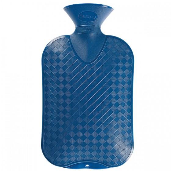 Warmwaterkruik - Beide zijdes glad blauw