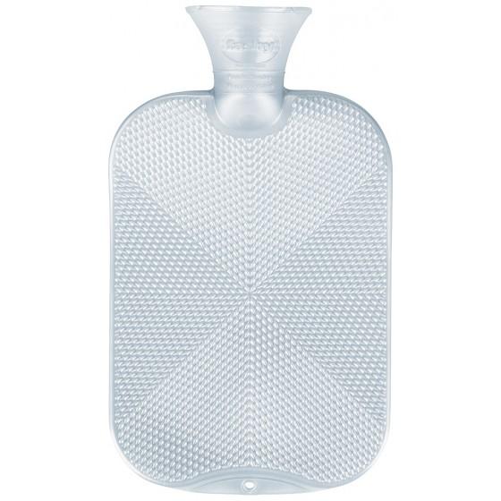 Warmwaterkruik - Kristalpatroon parelmoer wit