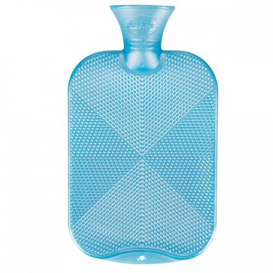 Warmwaterkruik - Kristalpatroon parelmoer blauw