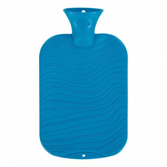 Warmwaterkruik - Wave patroon parelmoer blauw