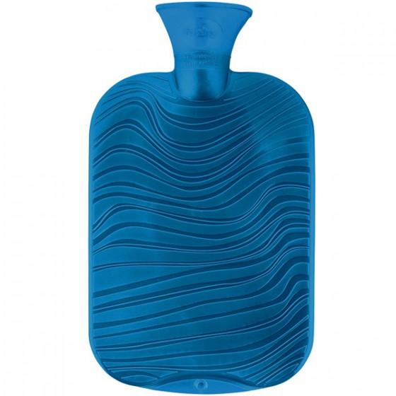 Warmwaterkruik - Wave patroon parelmoer aqua