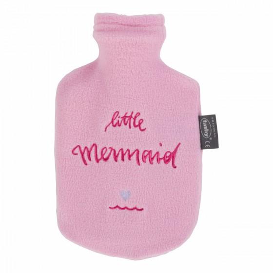 Warmwaterkruik - Met roze hoes 'Little Mermaid'