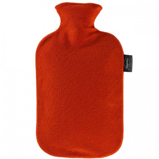 Warmwaterkruik - Met fleece hoes rood