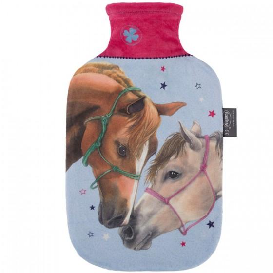 Warmwaterkruik - Hoes met paarden