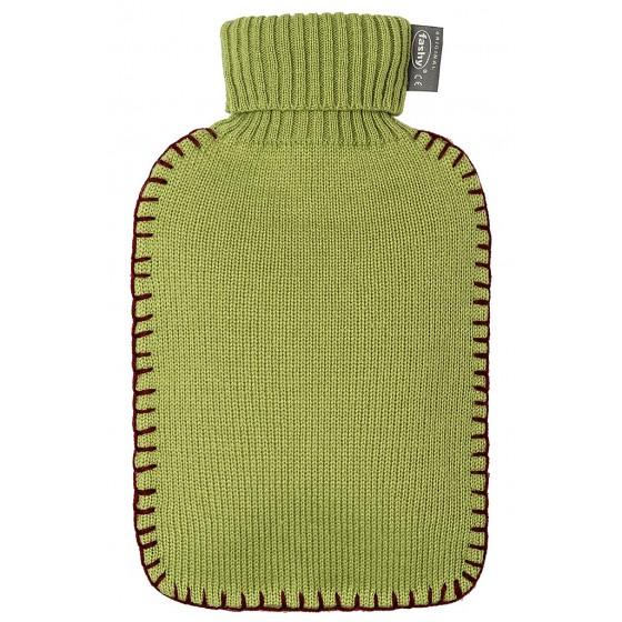 Warmwaterkruik - Met groen gebreide hoes