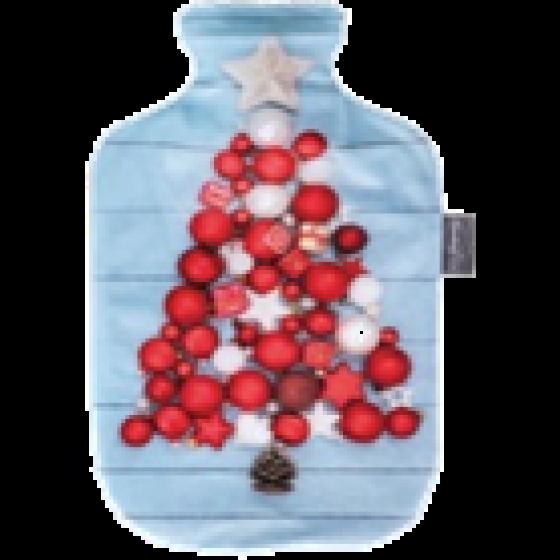 Warmwaterkruik - Met blauwe hoes kerst