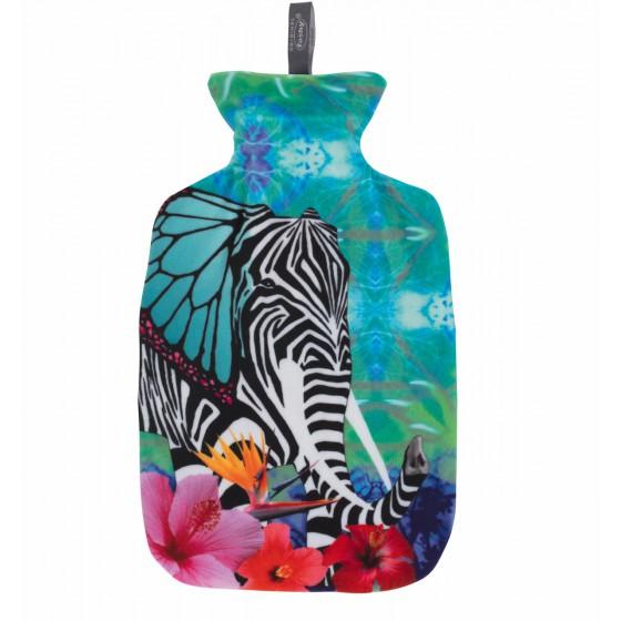 Warmwaterkruik - Met zachte hoes kleur olifant