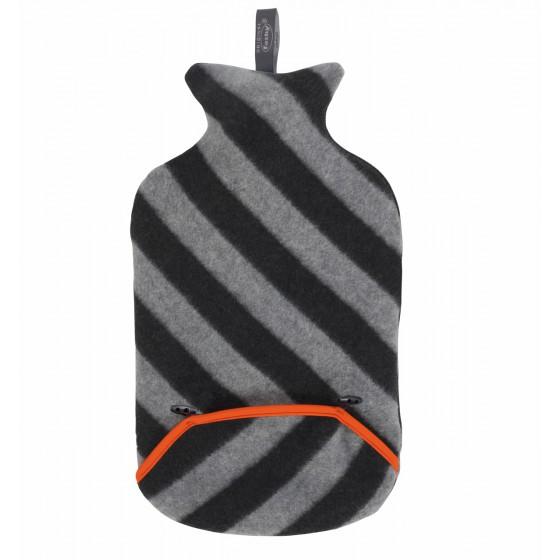 Warmwaterkruik - Met zachte hoes grijs / zwart