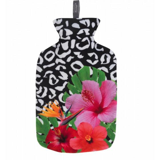 Warmwaterkruik - Met zachte hoes kleur bloemen