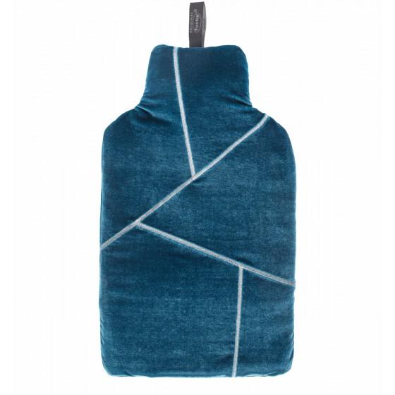 Warmwaterkruik - Fluweel hoes blauw