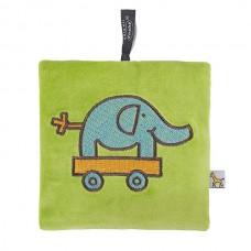 Pittenzak met koolzaad vulling groen met olifant