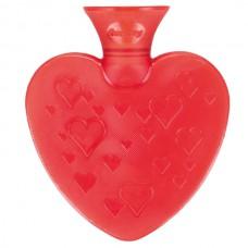 Warmwaterkruik - Vorm van een hartje rood