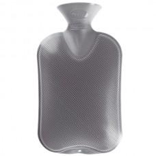 Warmwaterkruik - Enkelzijdig geribbeld grijs