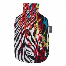 Warmwaterkruik - Met zachte hoes kleur zebra
