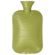 Warmwaterkruik - Wave patroon parelmoer groen